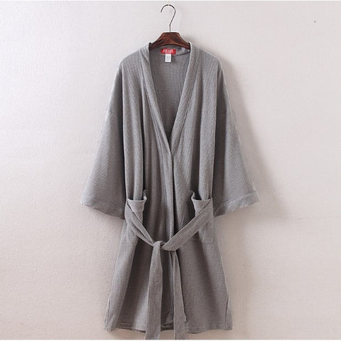 XL,XXL,3XL,4XL New 2016 plus size waffle cotton male bathrobes men pajamas with belt mat braid elegant bathroom spa men robe - Shopatronics - One Stop Shop. Find the Best Selling Products Online Today