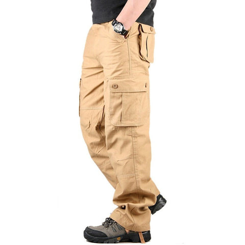 Quality Men Cargo Pants Casual Mens Pant Multi Pocket Plus size 30-44 - Shopatronics