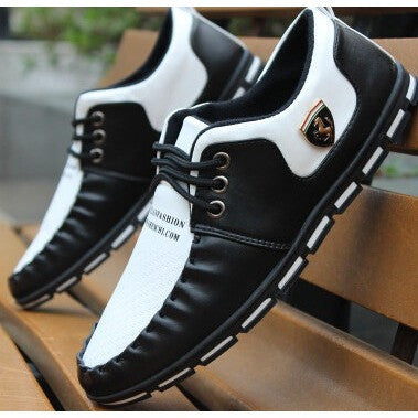 Spring Autumn Flat Commercial Moccasins Male Casual Flat Shoes British Style Popular Men Leather Shoes, Boots - Shopatronics