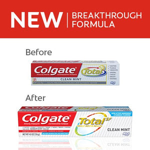 Colgate Total Toothpaste, Clean Mint, 4.8 ounce (2 Pack)