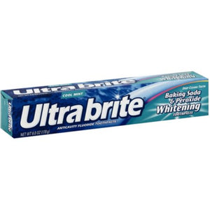 Ultra brite Baking Soda & Peroxide Whitening Toothpaste, Cool Mint 6 oz