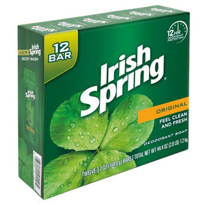 Irish Spring Original, Deodorant Bar Soap, 3.7 Ounce, 12 Bar Pack