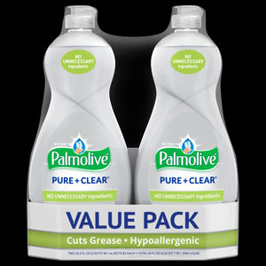 Palmolive Ultra Liquid Dish Soap, Pure and Clear - 32.5 Fluid Ounce (2 pack)
