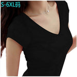 women Tops Tees 5XL 6XL 2016 summer style women casual womens t-shirt roupas femininas short sleeve t-shirt for women - Shopatronics