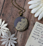 Unique Boho Jewelry With Lace, Vintage Beige Floral On Gray