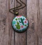 Cactus Necklace, Saguaro And Prickly Pear