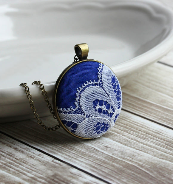 Cobalt Blue Pendant, Unique Jewelry Gift