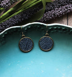 Small Denim Earrings, Recycled Blue Jean Jewelry