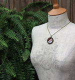 Burgundy Necklace With Lace, Unique Bridesmaid Or Anniversary Gift