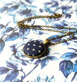 Navy Blue Heart Pendant Necklace