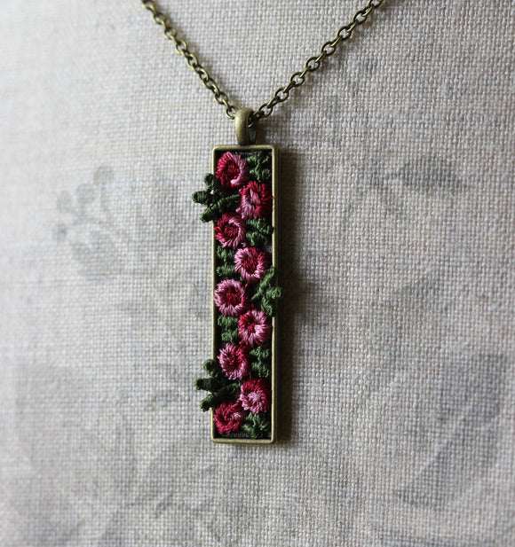 Rose Necklace, Unique Gift For Wife, Mom, Women