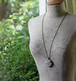 Ivory And Gray Lace Pendant, Gift for Women
