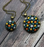 Floral Fabric In Small Or Large Pendant