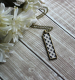 Art Nouveau Long Geometric Necklace