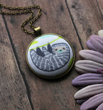 Sloth Necklace, Animal Fabric Pendant