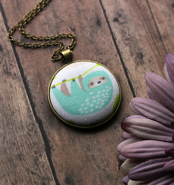 Sloth Necklace, Cute Gift Idea
