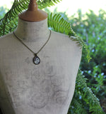 Art Nouveau Lace Teardrop Necklace, Unique Gift For Women