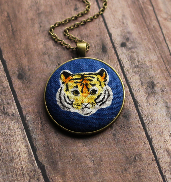 Tiger Necklace, Cute Gift For Cat Lovers