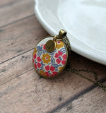 Vintage Quilt Jewelry With Letter Charm