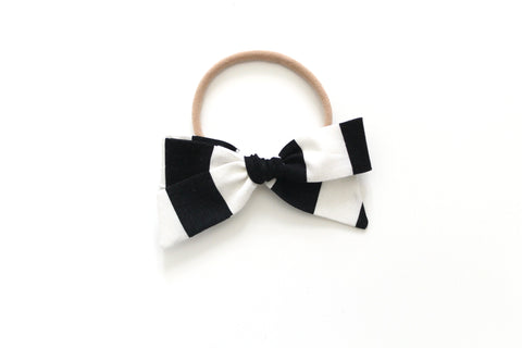 Black and White Stripe - Mini Hand-Tied
