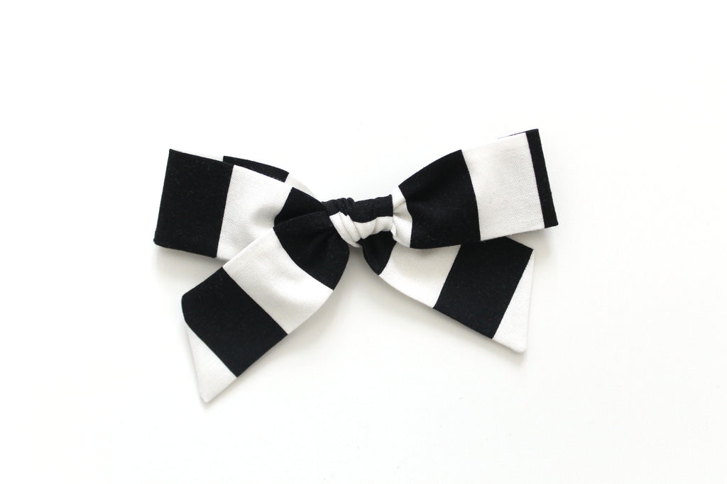 Black and White Stripe - Oversized Hand-Tied