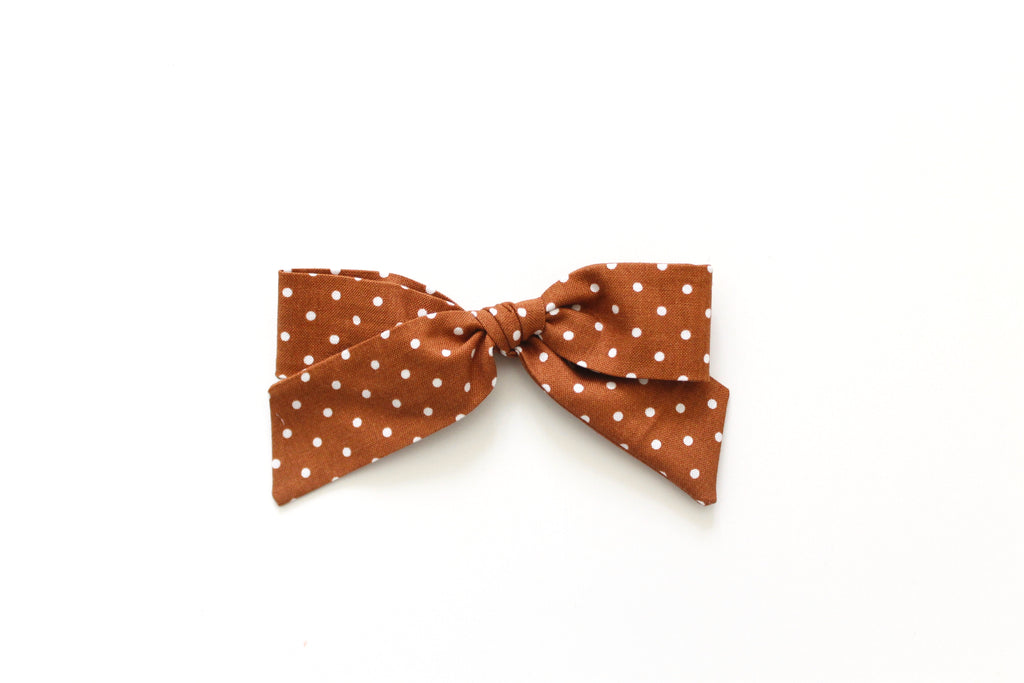Chestnut Dot - Oversized Hand-Tied