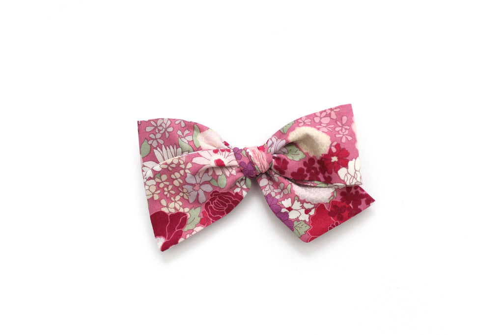Spring Blooms in Pink/Purple - Oversized Knot Bow