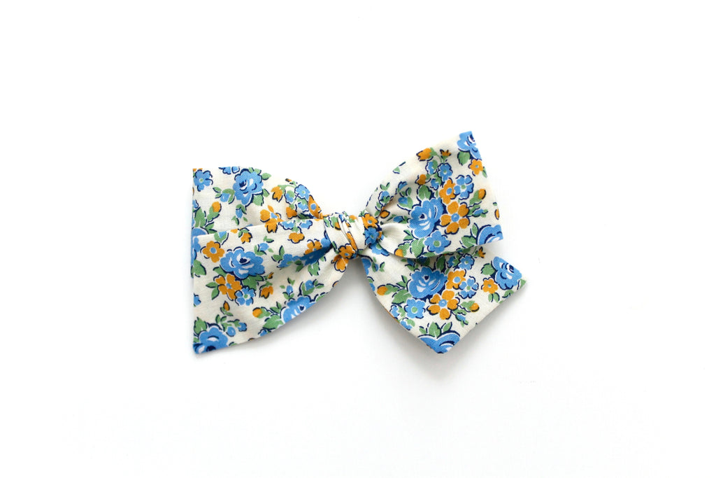 Amelia in Blue - Oversized Knot Bow