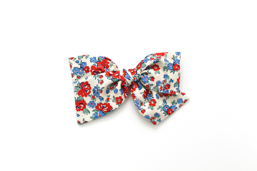 Amelia in Red - Oversized Knot Bow