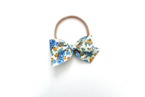 Amelia in Blue - Mini Knot Bow