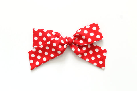 Red Minnie Dots - Oversized Hand-Tied