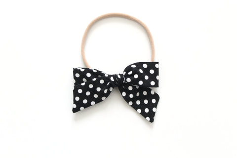 Black and White Dots - Mini Hand-Tied