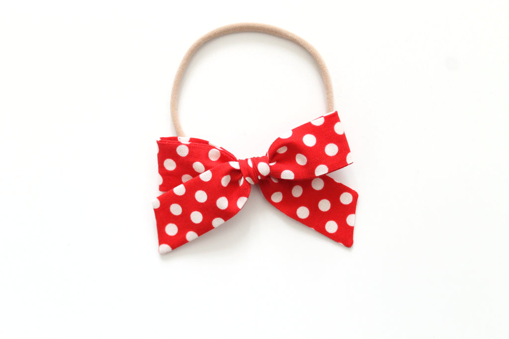 Red Minnie Dots - Mini Hand-Tied