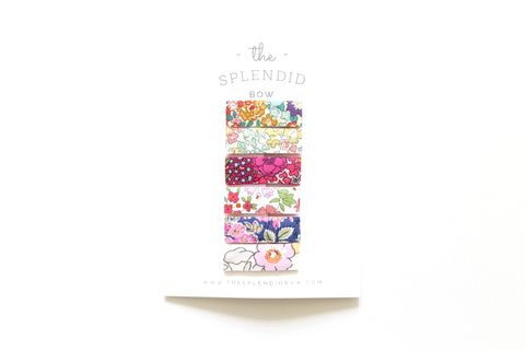 Set of 6 - Liberty of London Floral No. 2 - SMALL Snap Clips