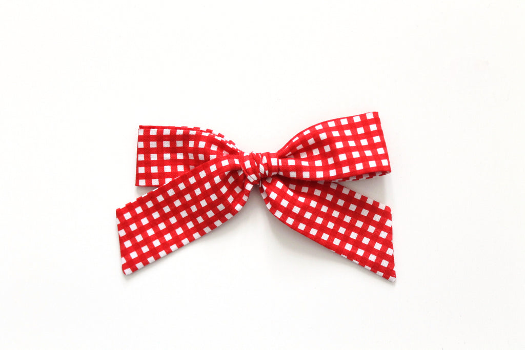Red Gingham - Oversized Hand-Tied