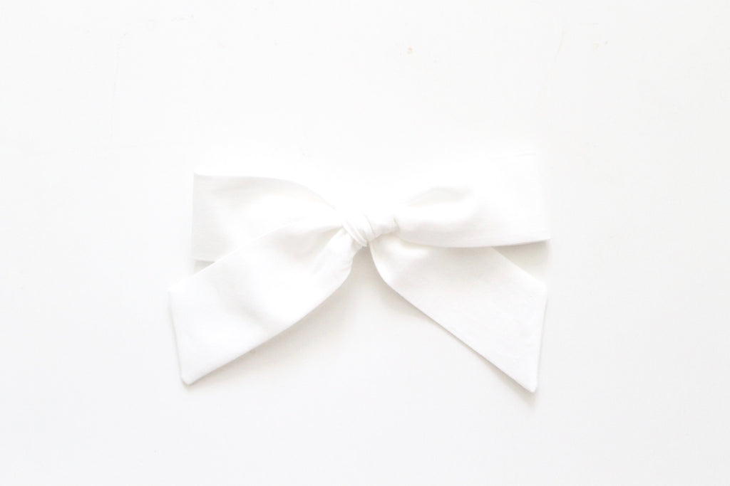 Soft White - Oversized Hand-Tied