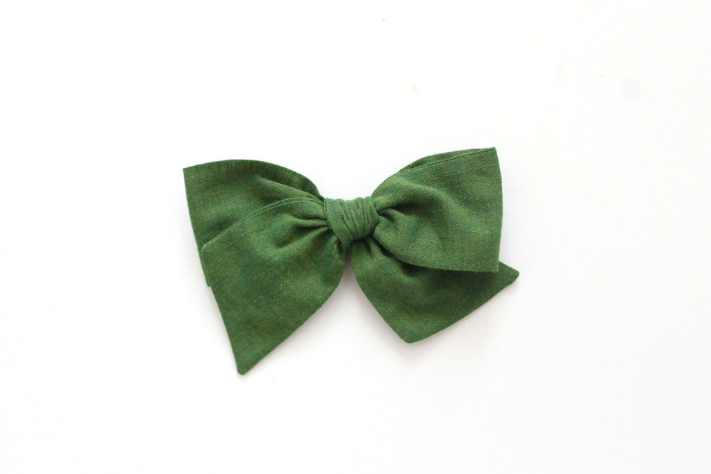 Moss - Woven - Oversized Knot Bow
