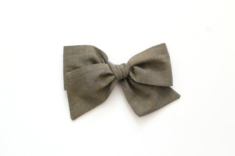 Army - Woven - Oversized Knot Bow