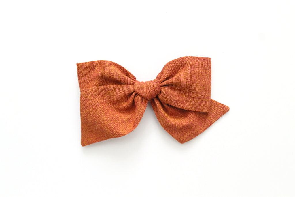 Ginger - Woven - Oversized Knot Bow