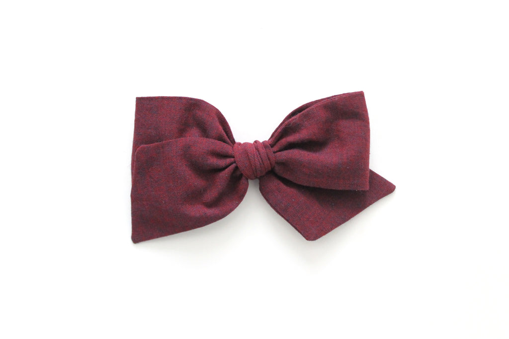 Bordeaux - Woven - Oversized Knot Bow
