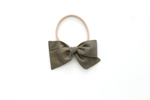 Army - Woven - Mini Knot Bow
