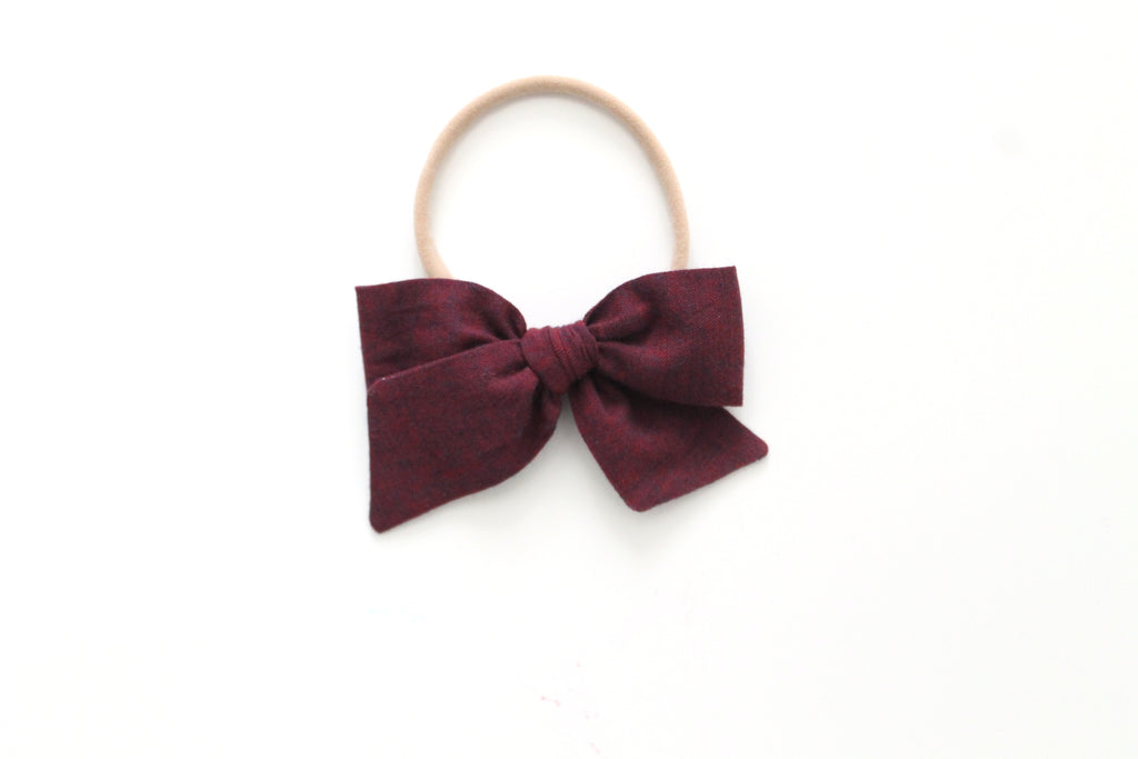 Bordeaux - Woven - Mini Knot Bow