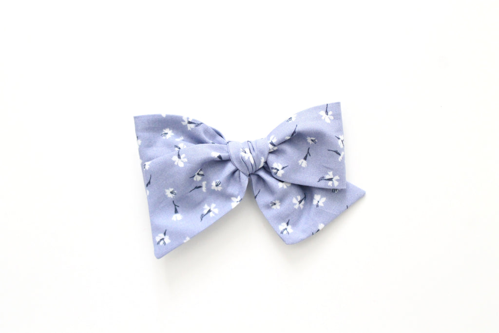 Tossed Flowers in Allure - Oversized Knot Bow