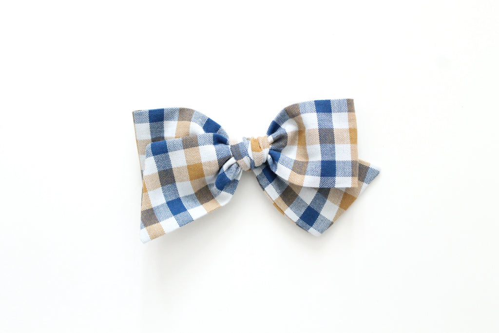 Prep School Plaid - Oversized Knot Bow