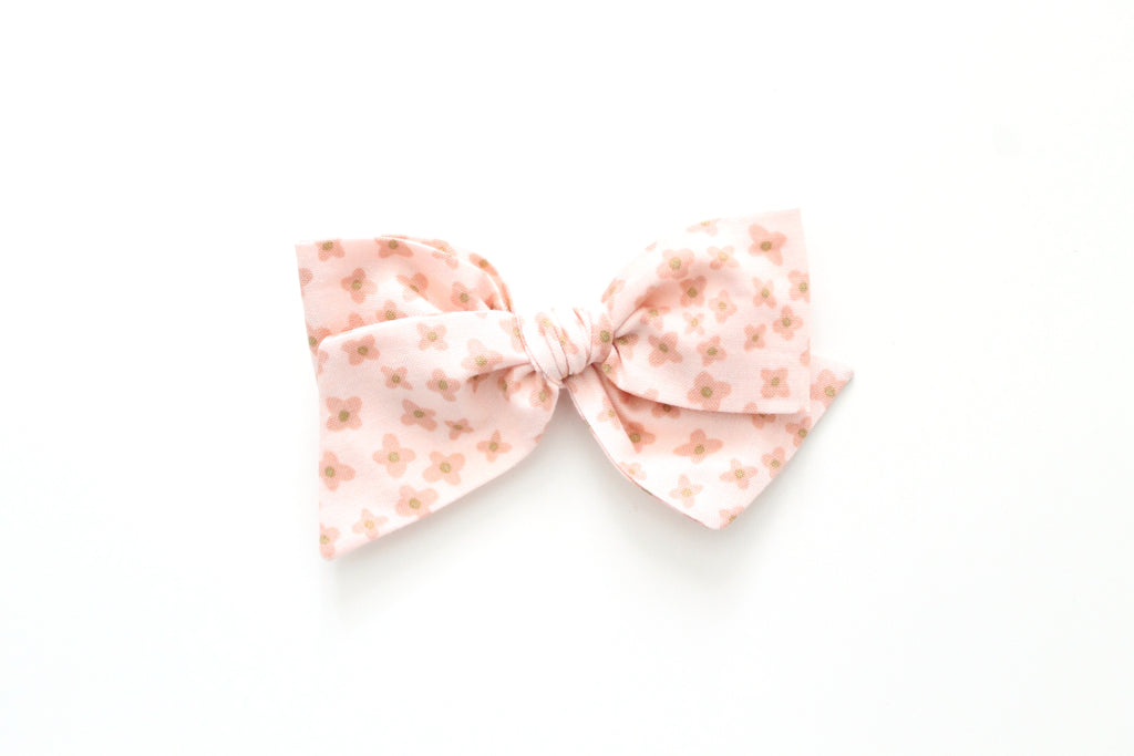 Ditsy in Rose - Oversized Knot Bow