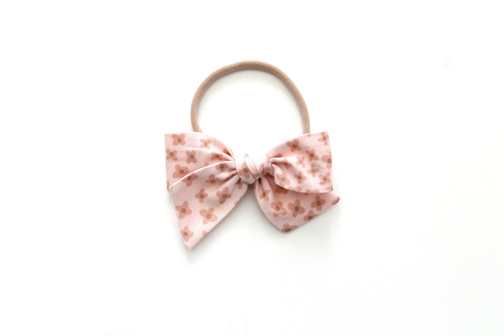 Ditsy in Rose - Mini Knot Bow