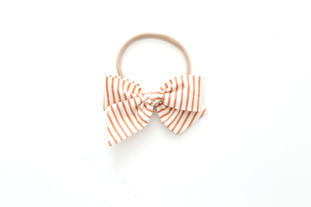 Copper Stripe - Mini Knot Bow