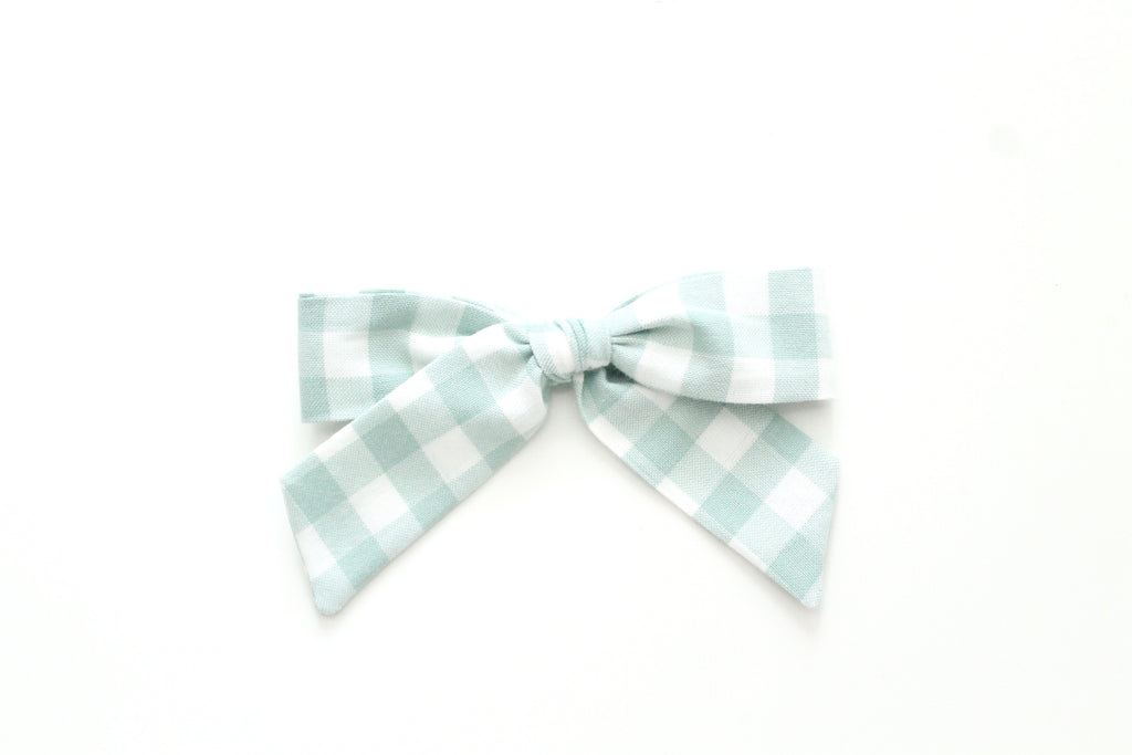 Gingham in Sage - Oversized Hand-Tied