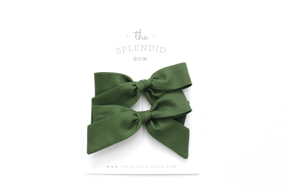 Evergreen - Pigtail Set - Mini Hand-Tied
