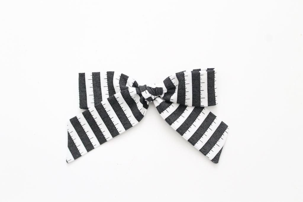 BOO Stripe in Black - Oversized Hand-Tied